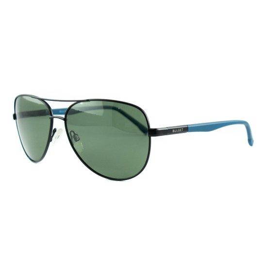613cd0b528d9b Óculos de Sol Bulget Polarizado - Preto+Azul