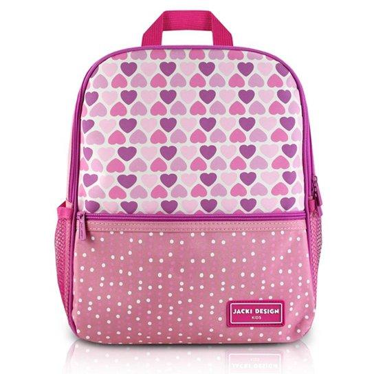 81a814a5f Mochila Infantil Escolar Jacki Design Coração Microfibra Feminina - Rosa