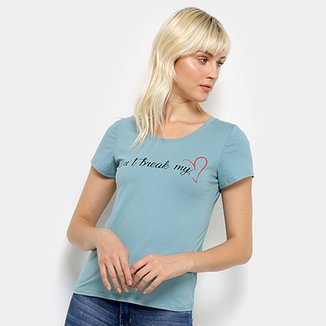 Camiseta Top Modas Don't Break My Heart Feminina