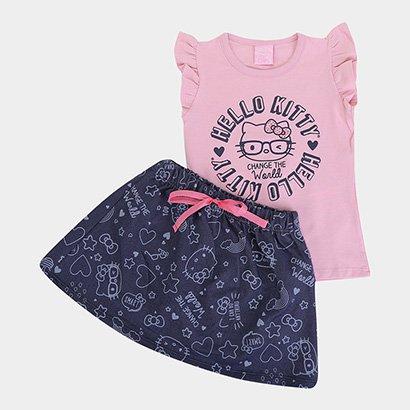 Conjunto Infantil Hello Kitty Change The World Feminino