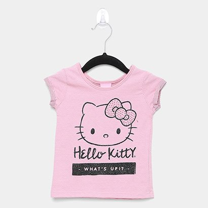 Blusa Infantil Hello Kitty Malha Trabalhada Feminina