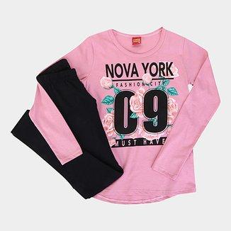 Conjunto Infantil Kyly Longo NY Feminino 447d00f946f
