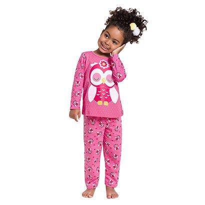 Pijama Infantil Kyly Manga Longa Estampa Coruja Feminino