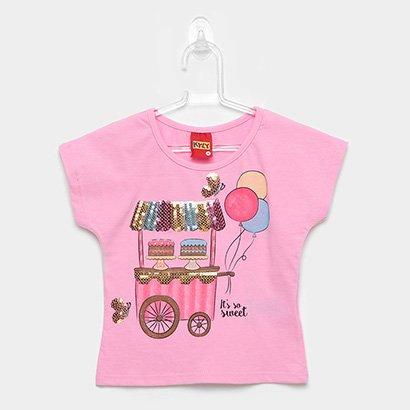 Blusa Infantil Kyly Paetês So Sweet Feminina
