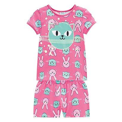Pijama Infantil Curto Kyly Brilha No Escuro Kyly Feminino