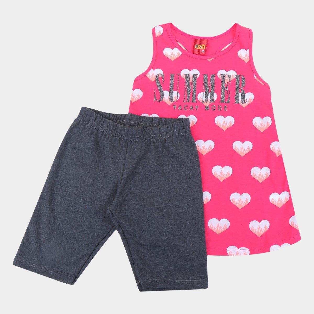 Conjunto Infantil Kyly Summer Mode Feminino
