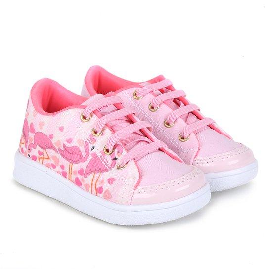 bf617daba8f Tênis Infantil Bee Happy Flamingos Feminino - Compre Agora