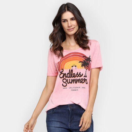 Camiseta Sommer Arco Iris - Compre Agora   Netshoes 760b471edc