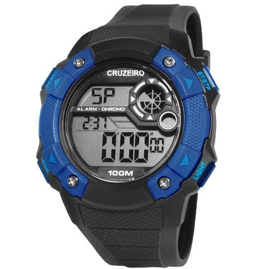 3dfde815ec7 Relógio Cruzeiro Technos Digital I - Preto e Azul - Compre Agora ...