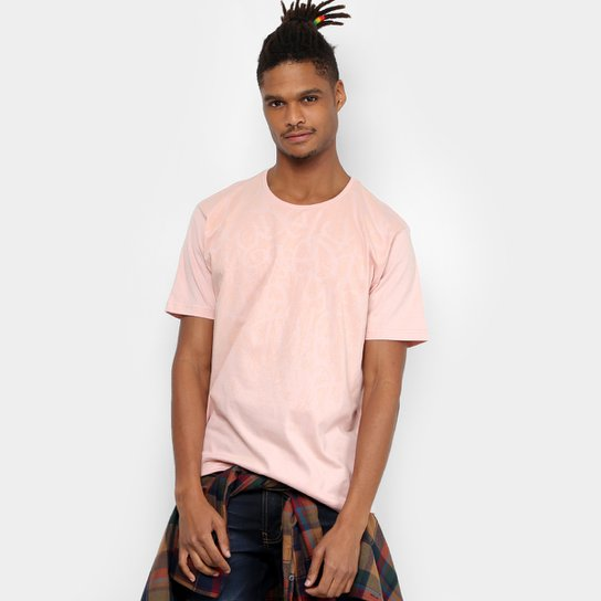868781e4b5e11 Camiseta Local Estampada Masculina - Rosa - Compre Agora   Netshoes