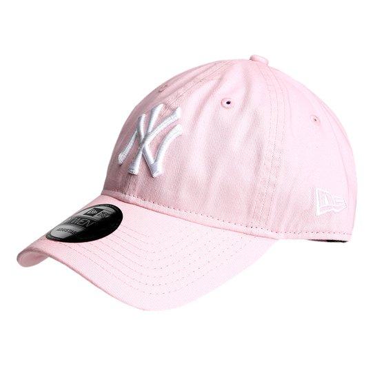 08f8434e01bb6 Boné New Era NFL New York Yankees Aba Curva 920 St Pastels Masculino - Rosa