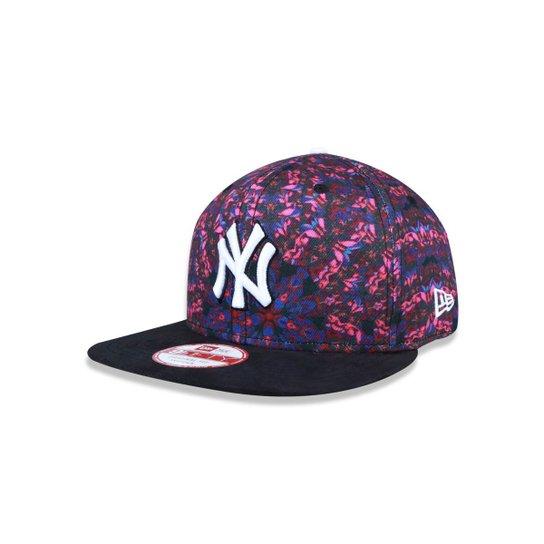 Boné 950 Original Fit New York Yankees MLB Aba Reta Snapback New Era - Rosa 5fdaf3f6445