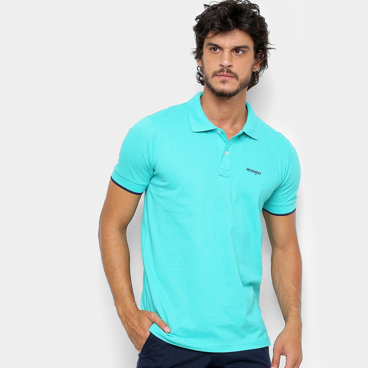 4d8c54fc07 Camisa Polo Wrangler Básica Piquet Logo Bordado Masculina