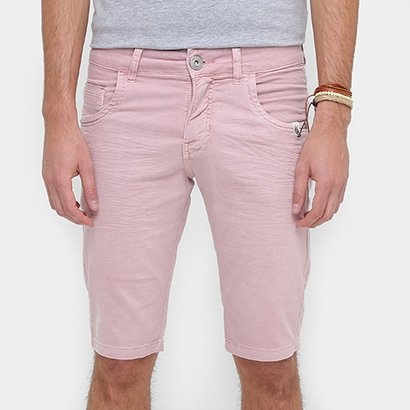 Bermuda Rock & Soda Slim Fit Color Tinturada Masculina