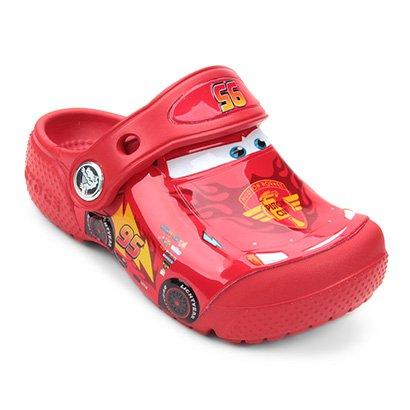 Sandália Crocs Infantil Carros McQueen
