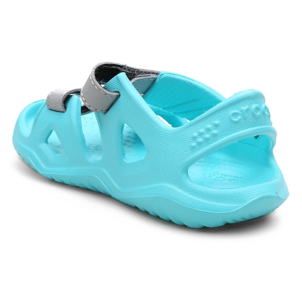 Foto 2 - Papete Infantil Crocs Velcro Swiftwater River
