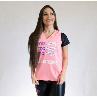 efbd42c5b5c73 Camiseta Fit Training Brasil No Excuses C  Capuz Feminina