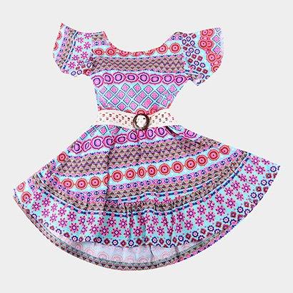 Vestidos Infantil Costão Curto Com Abertura Costas E Cinto