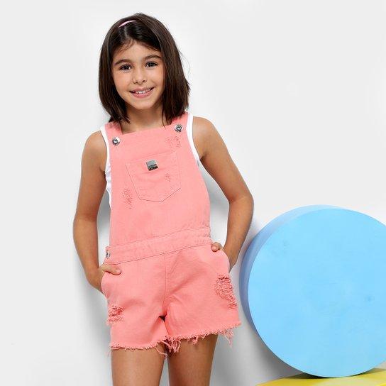 58d341c15 Jardineira Infantil Colcci Fun Sarja Feminina - Rosa | Netshoes