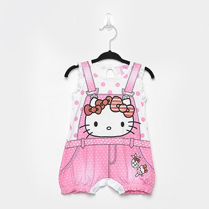 Macacão Infantil Marlan Hello Kitty Bebê Feminino