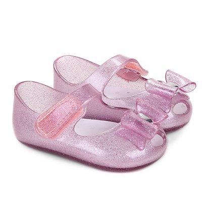 Sapatilha Infantil Pimpolho Colore Glitter Laço Feminina