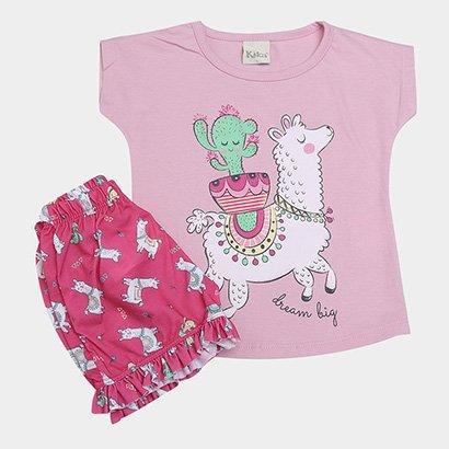Pijama Infantil Kiko & KIka Estampa Ilhama & Cacto Feminino