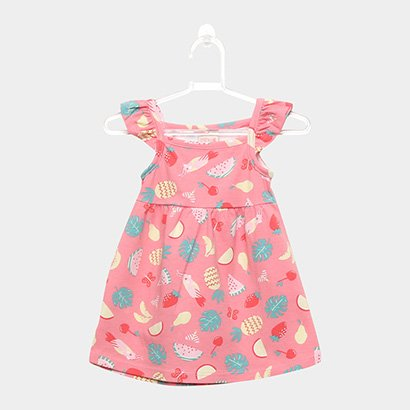 Vestido Infantil Kiko & Kika Cotton Frutas Tropicais