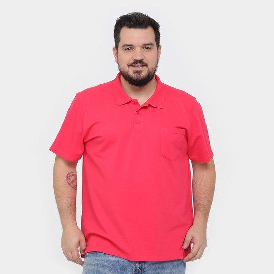 Camisa Polo Kohmar Piquet Plus Size Masculina - Pink - Compre Agora ... 84cca26f426cf
