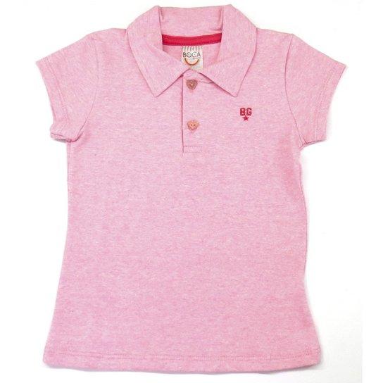 Camisa Polo Infantil Boca Grande Feminina - Rosa - Compre Agora ... 72c4a7a31ed69