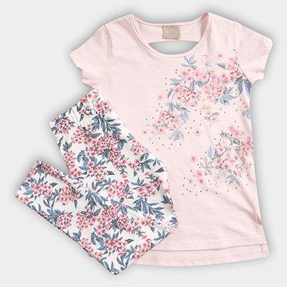 Conjunto Infantil Milon Floral Feminino