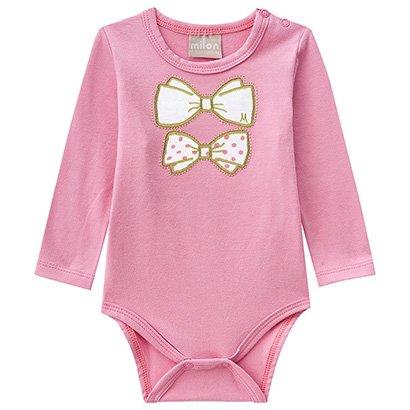 Conjunto Infantil Body + Calça Poá Feminina Milon