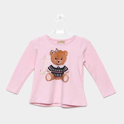 Blusa Infantil Milon Estampa Urso Feminina