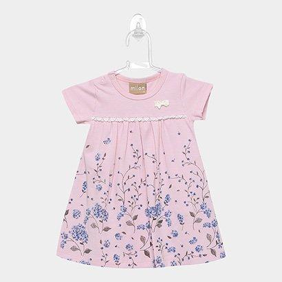 Vestido Infantil Milon Cotton c/ Body Interno Feminino