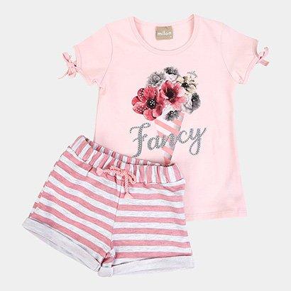 Conjunto Infantil Milon Fancy Flores Feminino
