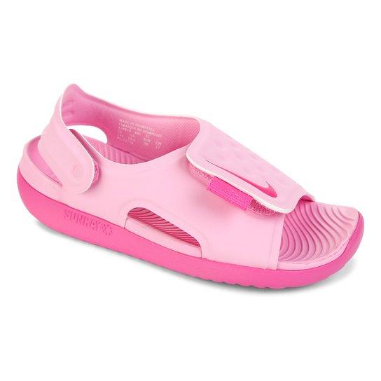 1ffb66230 Sandália Infantil Nike Sunray Adjust 5 - Rosa | Netshoes