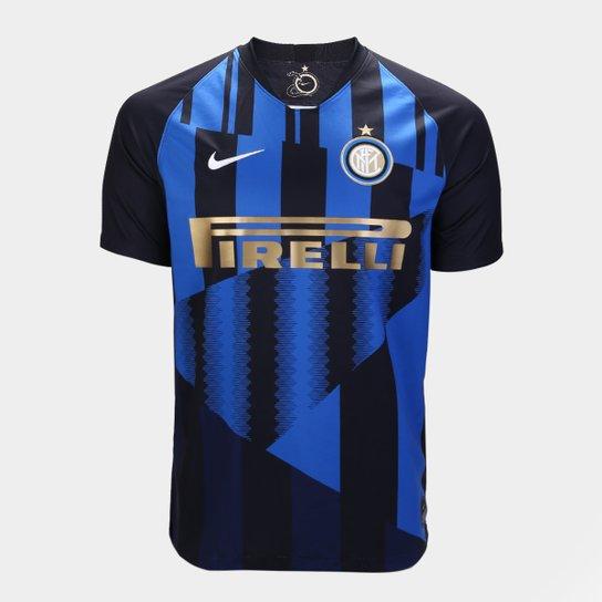 38ee98bbf32c0 Camisa Inter de Milão 20 Anos Edição Especial - Torcedor Nike Masculina -  Preto+Azul