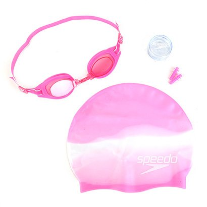 Kit Óculos Speedo Swim Slc + Touca + Protetor