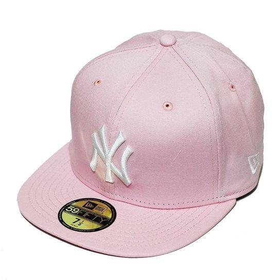 1c34c0dc4 Boné New Era Aba Reta Fechado Mlb Ny Yankees Tint Fashion - Rosa ...