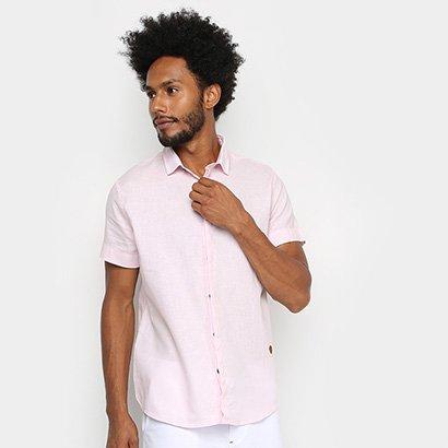 Camisa Acostamento Manga Curta Lisa Masculina