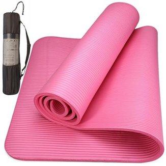 Colchonete Tapete Yoga Mat Pilates Ginástica 10mm Com Bolsa f86a3849cd48