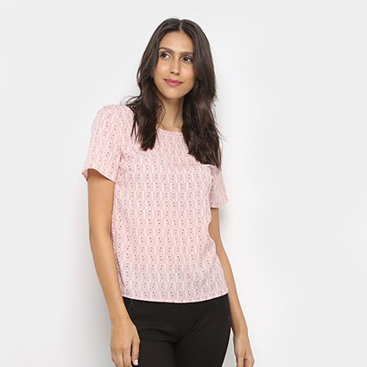 Blusa Dom Fashion Básica Estampada Feminina