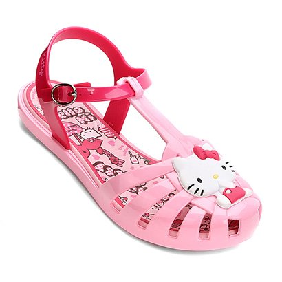 Sandália Infantil Grendene Hello Kitty Aranha Colors Feminina