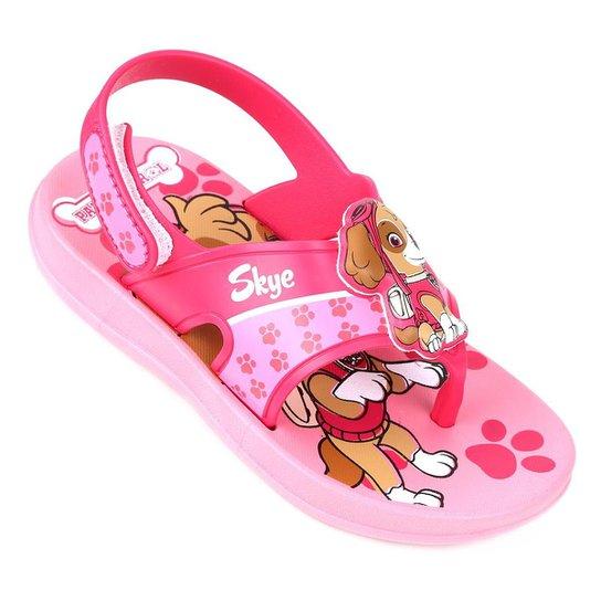 21073e3046 Sandália Infantil Grendene Patrulha Canina Missão Baby Feminina - Rosa