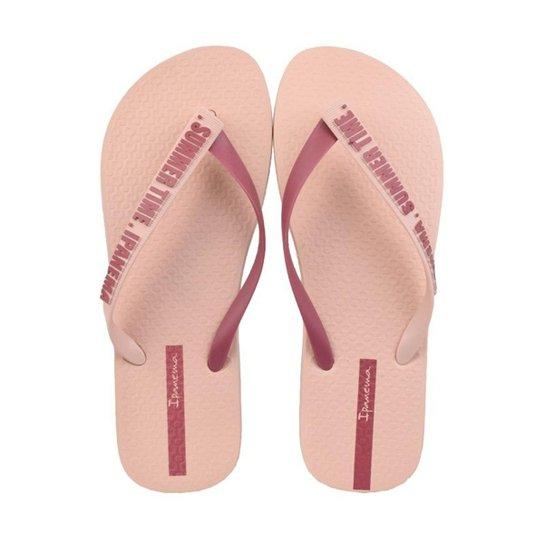 d30c886e5 Chinelo Ipanema Summer Time Feminino - Rosa - Compre Agora
