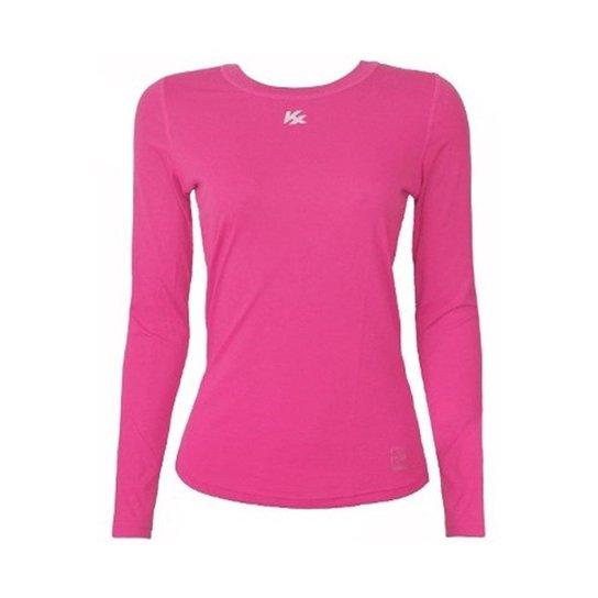 Camisa Térmica Kanxa Infantil Feminina Fator Proteção Solar Uv50 6277 - Rosa b8a320653cee0