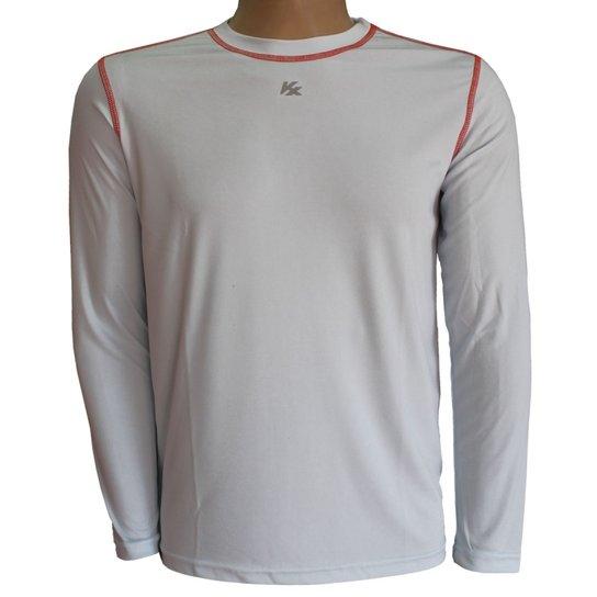 04bd2a009c Camisa Térmica Kanxa Proteção Uv+Anti Inseto 6707 - Branco e Laranja ...