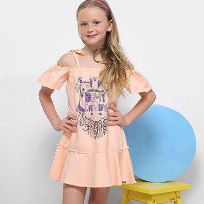 Vestido Infantil Dimy Candy Sobreposição