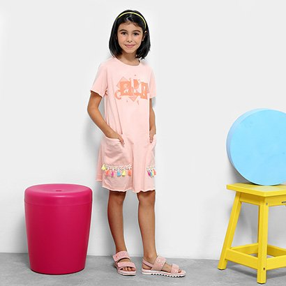 Vestido Infantil Dimy Candy com Tassel Feminino