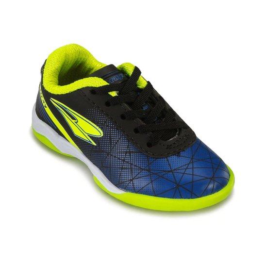 9b99fdac77 Chuteira Futsal Infantil Drayzinho Masculino - Preto+Azul