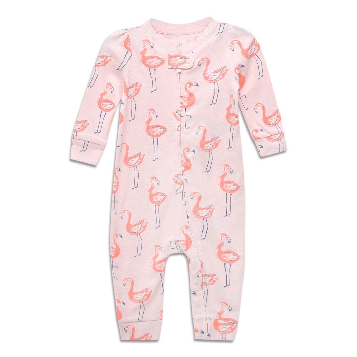 Macacão Bebê GAP Longo Flamingo Feminino